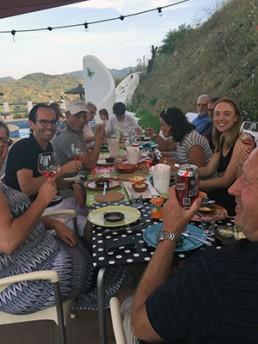 Samen eten in Spanje